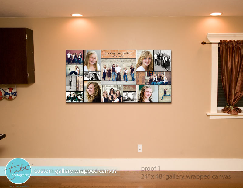 Custom wall decor tilt photography blog for Wall hanging ideas for family room